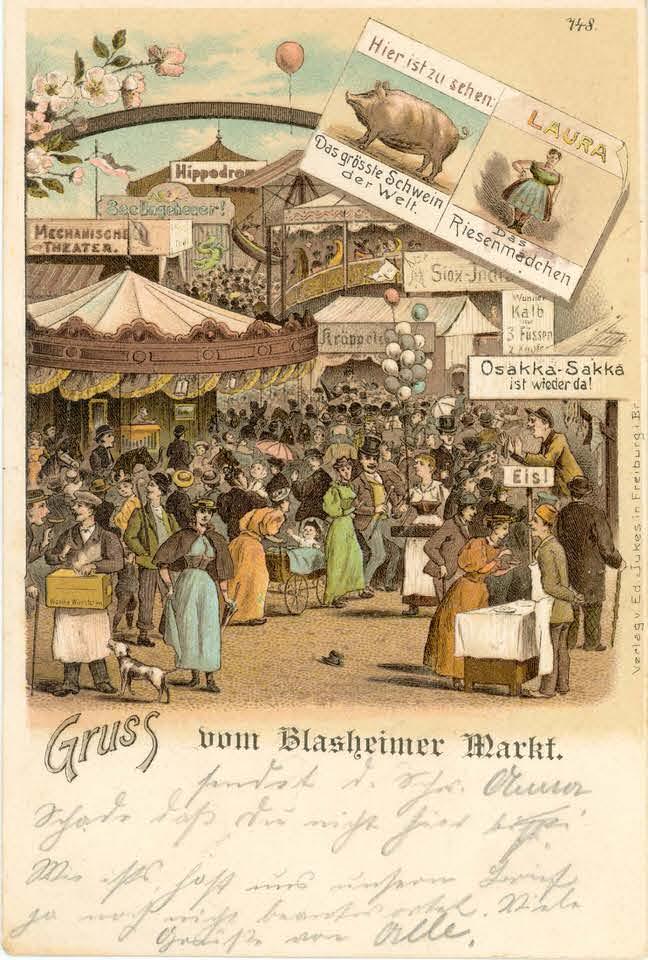 Karte 14, Gruss vom Blasheimer Markt, 2 September 1899_Seite_1